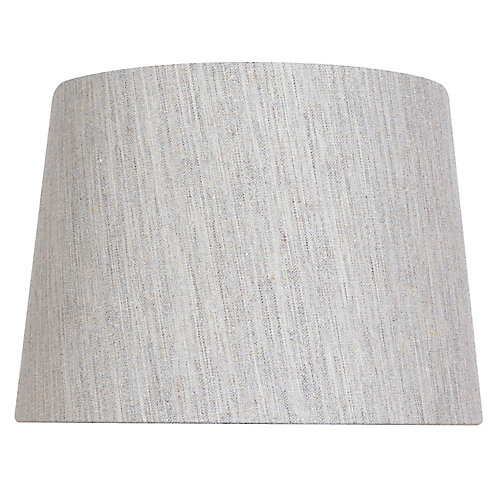 14 inch DIA Textured Taupe Linen Blend Table Lamp Shade