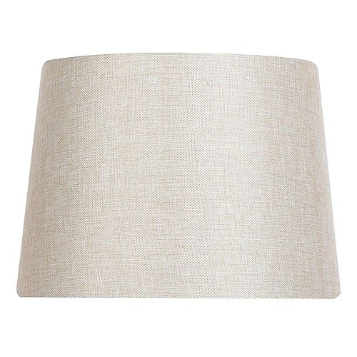 14 inch DIA Cream Linen Blend Table Lamp Shade