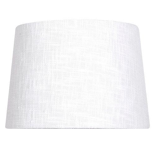 """Abat-jour de lampe de table en lin mélangé blanc texturé DIA. 14"""""""