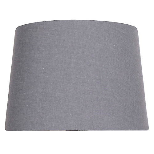 14 inch DIA Dark Grey Cotton Blend Table Lamp Shade