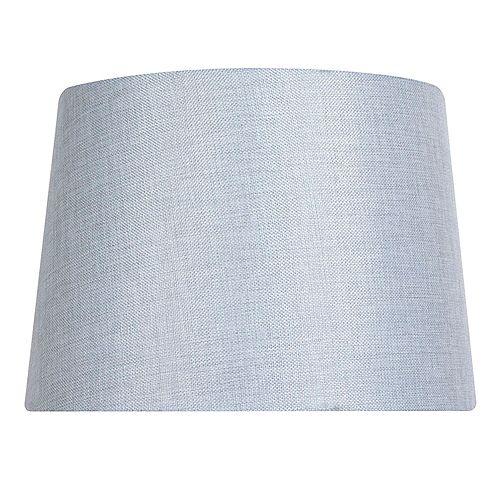 """Abat-jour de lampe de table en lin mélangé gris clair DIA. 14"""""""