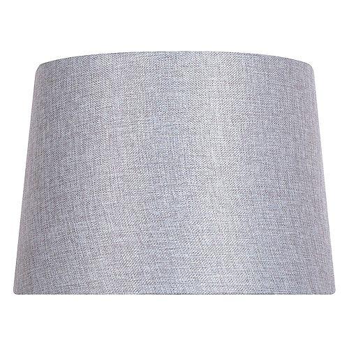 """Abat-jour de lampe de table en lin mélangé gris DIA. 14"""""""