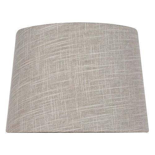 14 inch DIA Taupe Linen Table Lamp Shade