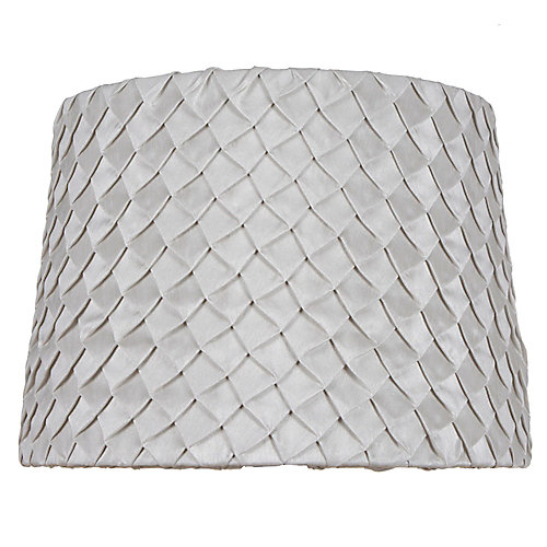 14 inch DIA Taupe Scale Pleat Nylon Blend Table Lamp Shade