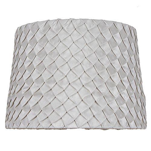 """Hampton Bay Abat-jour de lampe de table en nylon mélangé plissé taupe DIA. 14"""""""