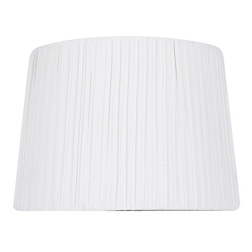14 inch DIA White Pleat Cotton Blend Table Lamp Shade
