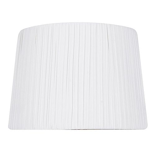 Hampton Bay 14 inch DIA White Pleat Cotton Blend Table Lamp Shade
