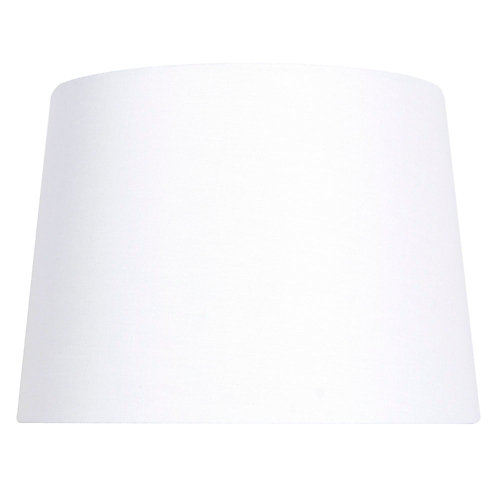 14 inch DIA White Linen Blend Table Lamp Shade