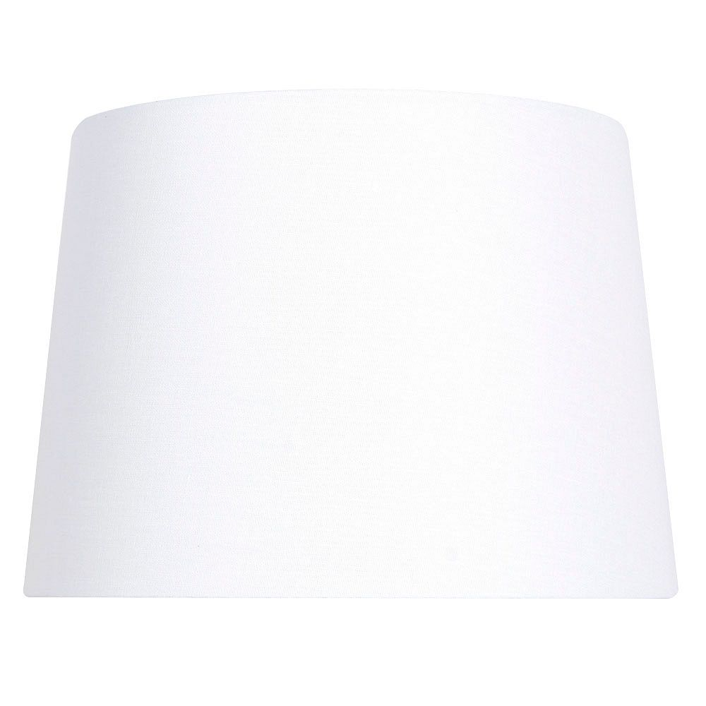 """Hampton Bay Abat-jour de lampe de table en lin mélangé blanc DIA. 14"""""""