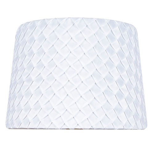 14 inch DIA White Scale Pleat Nylon Blend Table Lamp Shade
