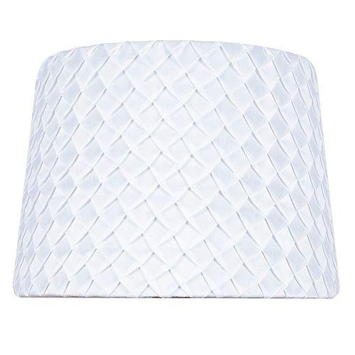 """Abat-jour de lampe de table en nylon mélangé plissé blanc DIA. 14"""""""