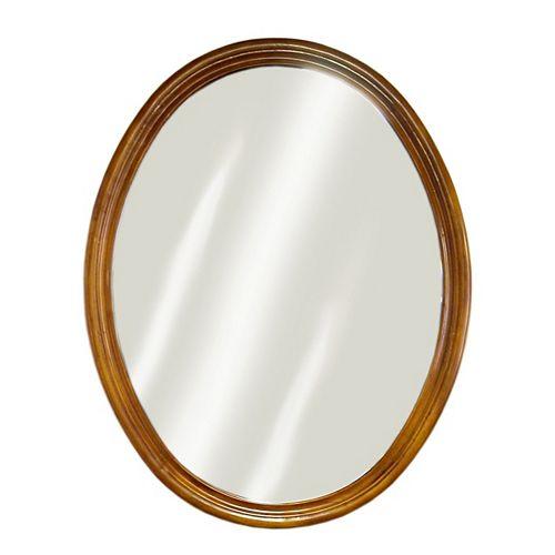 Miroir chêne demi-cercle