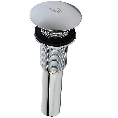 Chrome Polished Umbrella Drain without Overflow