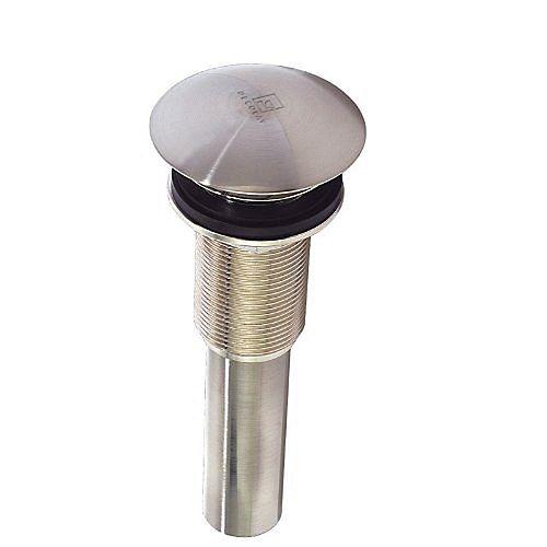 Satin Nickel Umbrella Drain without Overflow