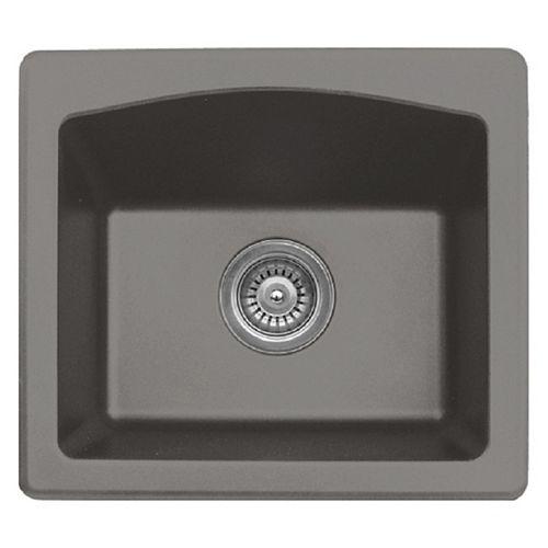 Quartz 18 inch Bar/ Prep Sink inConcrete