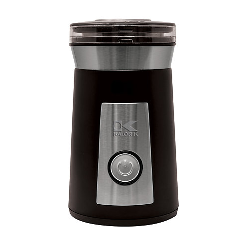 Black and Stainless Steel Coffee and Herb Grinder