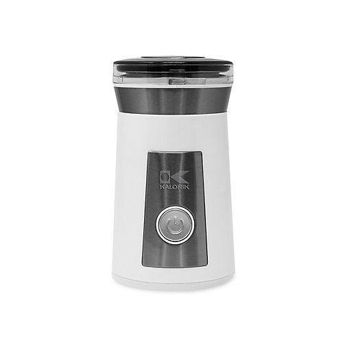 White and Stainless Steel Coffee and Herb Grinder