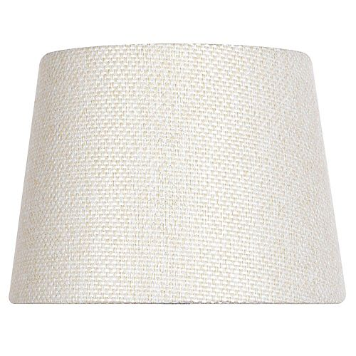 10 inch DIA Textured Beige Linen Blend Accent Lamp Shade