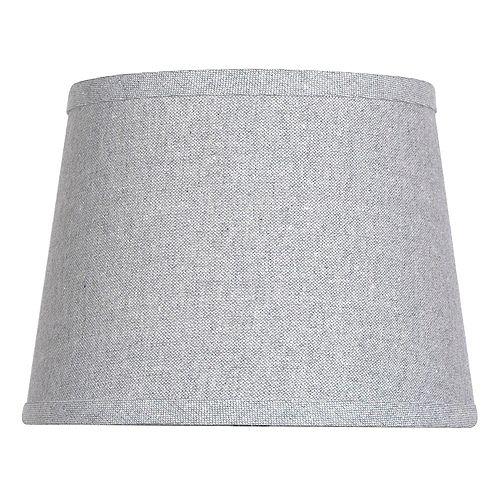 """Abat-jour de lampe d'appoint gris avec mélange de coton brillant DIA. 10"""""""