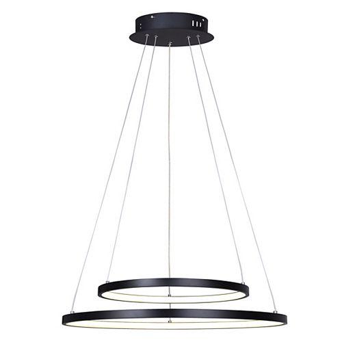 Canarm Cosmo LED matte black chandelier