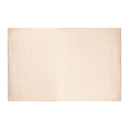 Carpette d'intérieur Rabbit, 4 pi x 6 pi, fourrure synthétique, crème