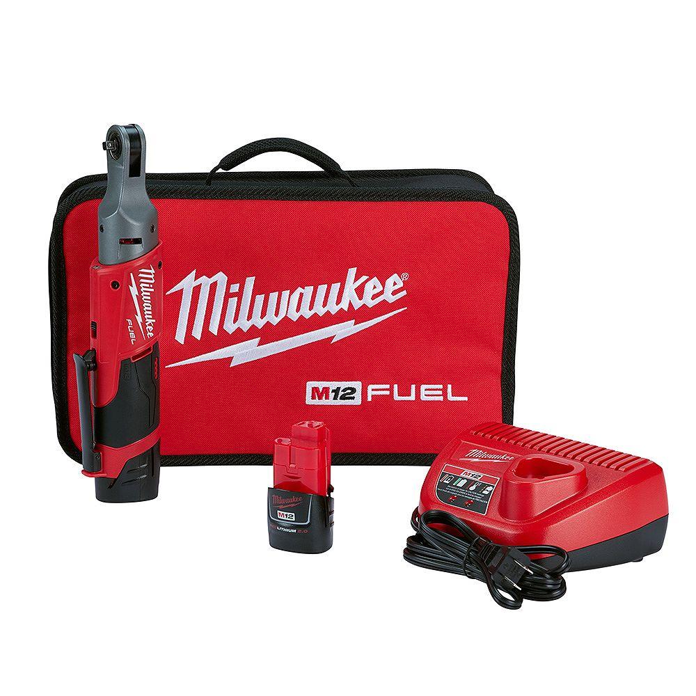 Milwaukee Tool M12 FUEL 12V Lithium-Ion sans fil à cliquet 1/4 de pouce (outil seulement)