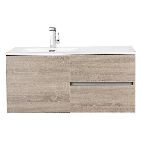 Beachwood Collection 42 inch Wall Mount Modern Bathroom Vanity - Dorato