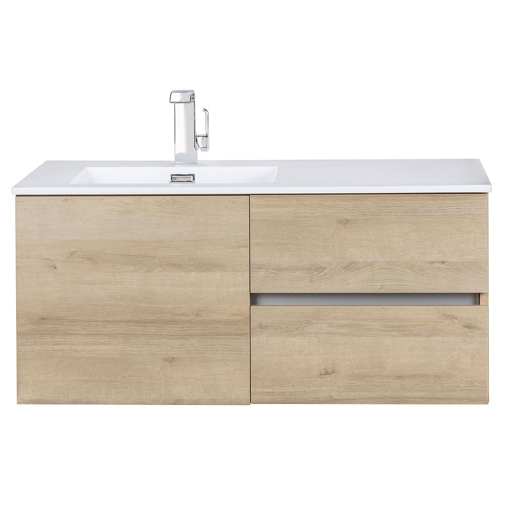 Cutler Kitchen & Bath Beachwood Collection 42 inch Wall Mount Modern Bathroom Vanity - Organic