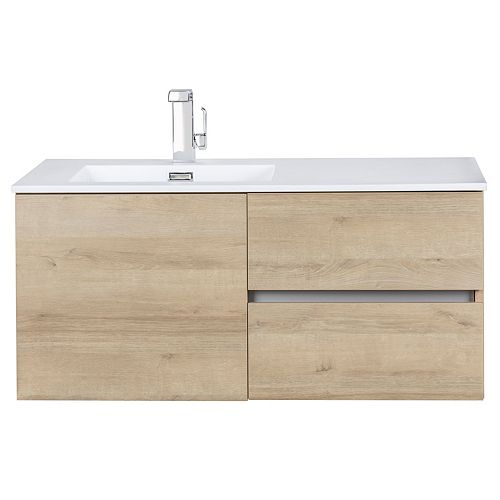 Beachwood Collection 42 inch Wall Mount Modern Bathroom Vanity - Organic