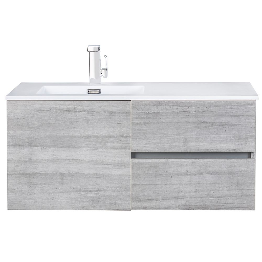 Cutler Kitchen & Bath Beachwood Collection 42 inch Wall Mount Modern Bathroom Vanity - Soho
