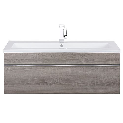 Cutler Kitchen & Bath Trough Collection 42 inch Wall Mount Modern Bathroom Vanity - Dorato