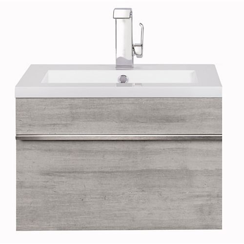 Trough Collection 24 inch Wall Mount Modern Bathroom Vanity - Soho