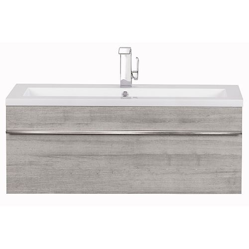 "Trough Collection 42"" Wall Mount Modern Bathroom Vanity - Soho"