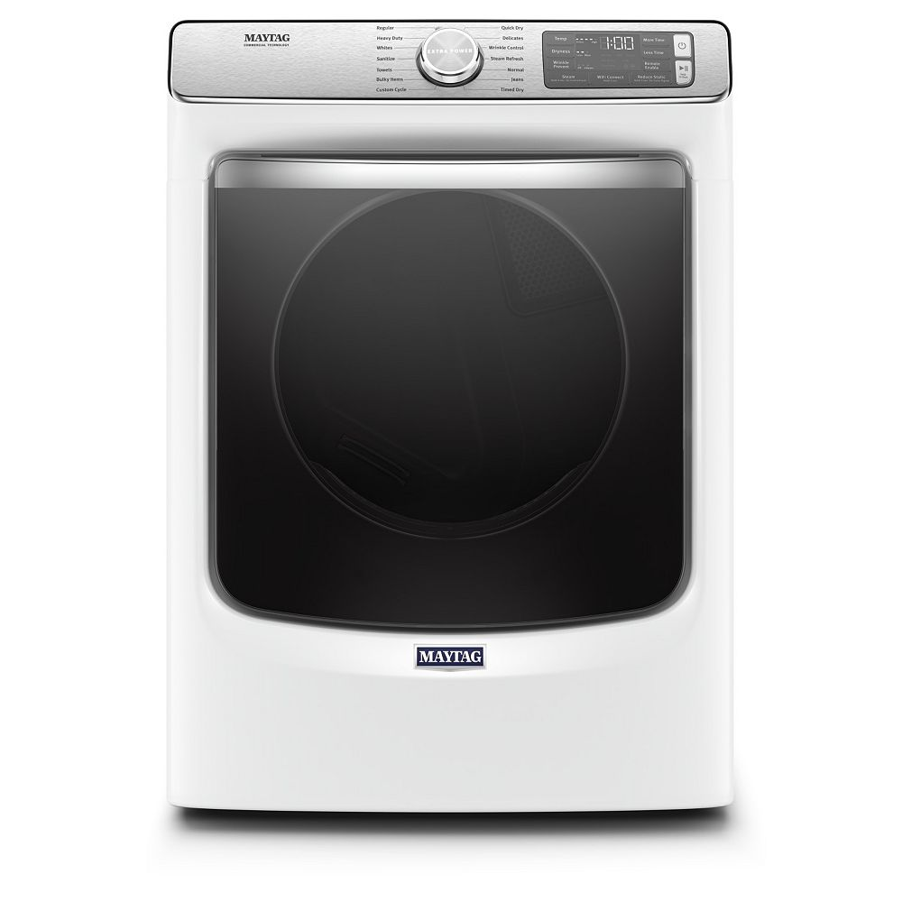 Maytag 7.3 cu. ft. Smart Front Load Electric Dryer in White - ENERGY STAR®
