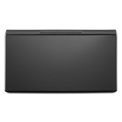 15.5-inch Chrome Shadow Laundry Pedestal w/Storage Drawer
