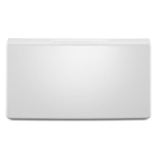 15.5-inch White Laundry Pedestal w/Storage Drawer