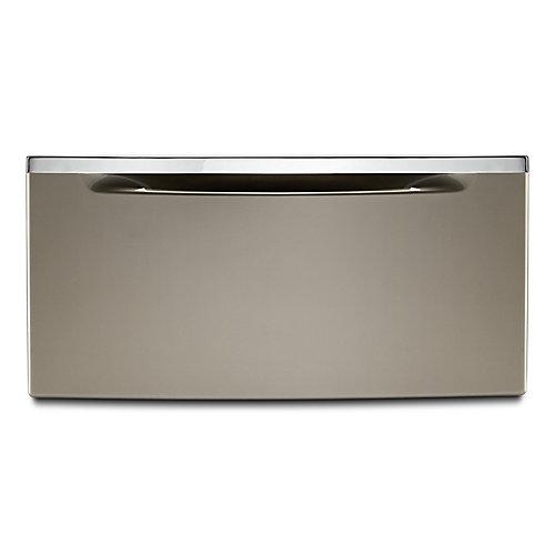11.3-inch Cashmere Laundry Pedestal w/Storage Drawer