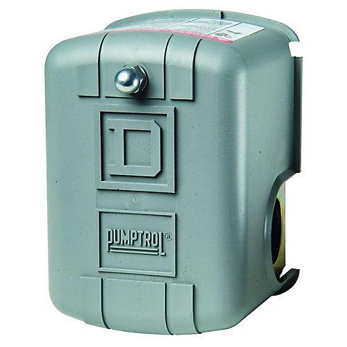 Le manostats de surveillance de pression d'air PUMPTROL 20-40 lb/po²