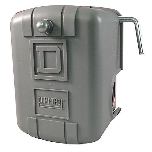 Le manostats de surveillance de pression d'air PUMPTROL 30-50 lb/po² Levier de coupure manuel