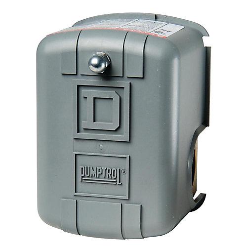 Le manostats de surveillance de pression d'air PUMPTROL 40-60 lb/po²