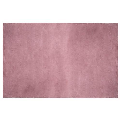 Carpette d'intérieur Rabbit, 4 pi x 6 pi, fourrure synthétique, gris pâle rosé
