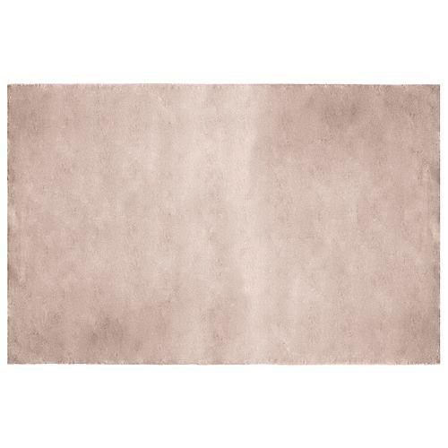 Carpette d'intérieur Rabbit, 4 pi x 6 pi, fourrure synthétique, taupe