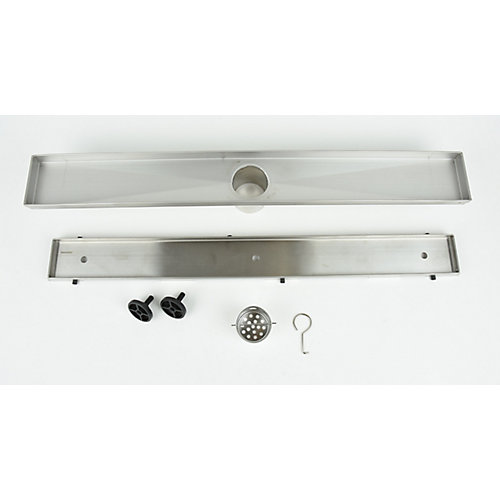 Linear Shower Drain Tile-in, 24 inch.