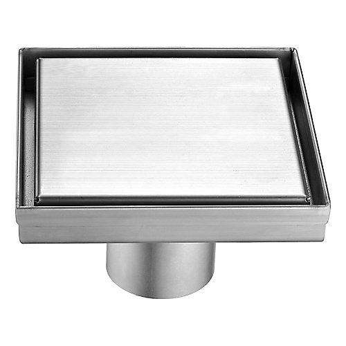 Square Shower Drain Solid Grid