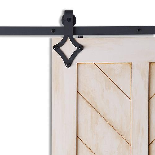 DIAMOND Black Sliding Barn Door System