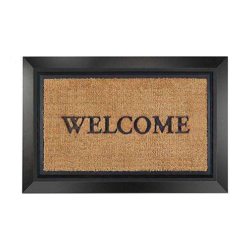 Fresh Home Elements 2-in-1 Brown/Black 24-inch x 36-inch Outdoor Coir & Rubber Door Mat