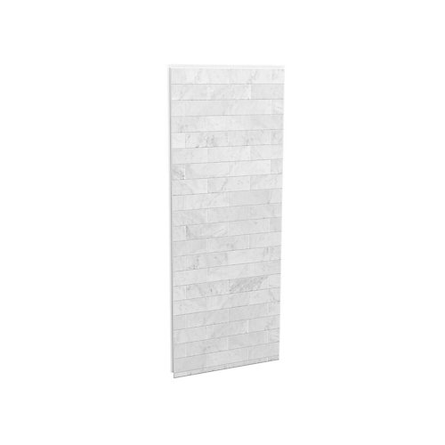 32-inch Shower Side Wall in Marble Carrara