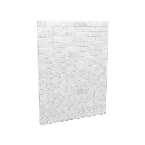 Panneau mural pour fond de douche, 60po, marbre de Carrare