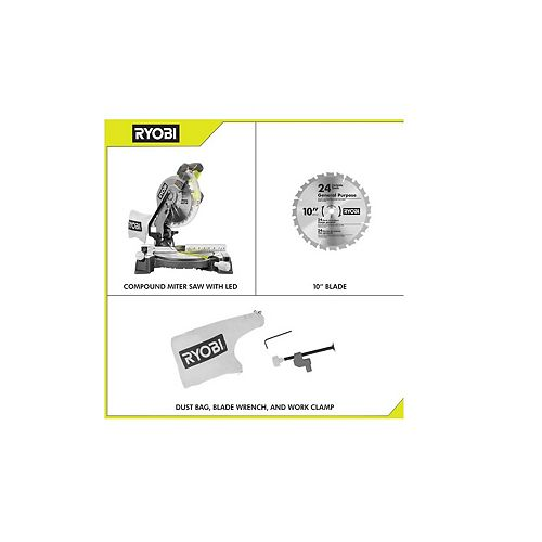 14-Amp 10-Inch Compound Mitre Saw with LED