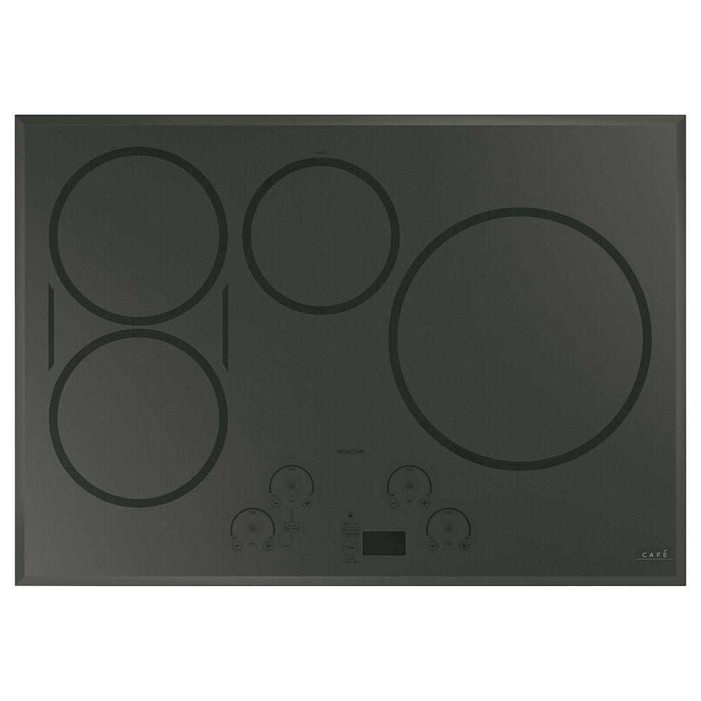 Table de cuisson à induction de 7 po en gris Flagstone avec 7 éléments, y  compris les brûleurs synchrones